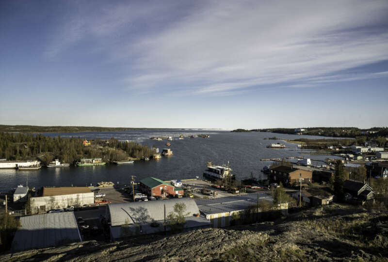 houses-and-buildings-and-great-slave-lake-yellowknife